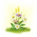 """Набор для вышивания лентами МАТРЕНИН ПОСАД 28х34 """"Ромашки с цветочками"""""""