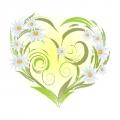 """Набор для вышивания лентами МАТРЕНИН ПОСАД 28х34 """"Ромашки-сердце"""""""