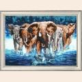 """Набор для вышивания бисером BUTTERFLY """"Африканские слоны"""""""