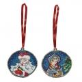 """Игрушка PANNA """"Новогоднее украшение. Дед Мороз и Снегурочка"""""""