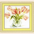 """Набор для рисования камнями DIY """"Розовые тюльпаны"""""""