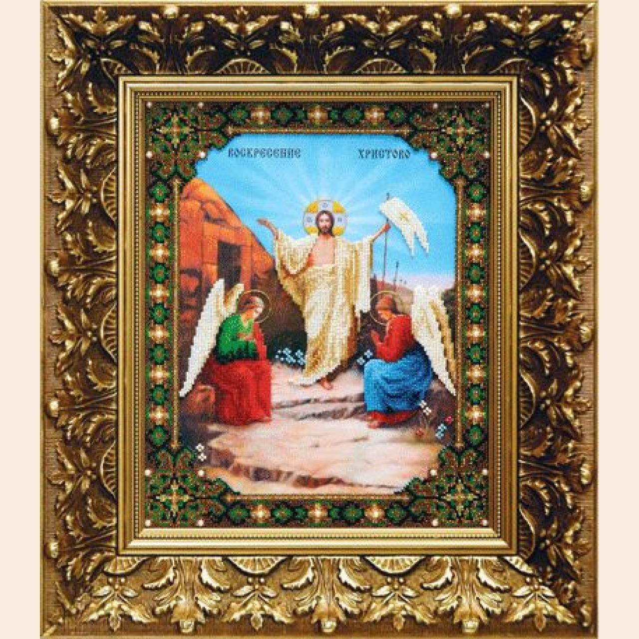Набор для вышивания бисером ЧАРИВНА МИТЬ Икона Воскресение Христово