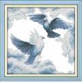 Алмазная вышивка камнями Anya «Голуби»