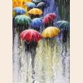 """Набор алмазной живописи ИМПЕРИЯ БИСЕРА """"Цветные зонтики"""""""