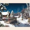 Алмазная вышивка камнями АЛМАЗНАЯ ЖИВОПИСЬ «Новый год в деревне»