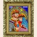 """Набор для вышивания бисером с Рамкой(багет) ВЫШИВАЕМ БИСЕРОМ """"Петр и Феврония"""""""