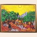 """Набор для вышивания бисером BUTTERFLY """"Солнце в оливковом саду (по картине В. Ван Гога"""""""