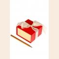 Коробка смарт клубника со сливками арт.ГС.SBL.02/15-13 9х5х9см 6 шт