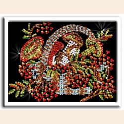"""Набор для творчества ВОЛШЕБНАЯ МАСТЕРСКАЯ Мозаика из пайеток """"Осень"""""""