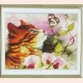 "Набор для рисования камнями ""Котенок и бабочка"" размер 259х258/75х75см"