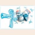 """Набор для вышивания хрустальными бусинами ОБРАЗА В КАМЕНЬЯХ """"Метрика для мальчика"""" с алфавитом"""