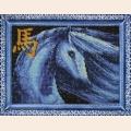 """Набор для вышивания бисером ВЫШИВАЕМ БИСЕРОМ """"Синяя лошадь"""""""