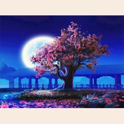 """Принт для вышивания лентами ASTREA (Gluriya) """"Розовое дерево"""""""