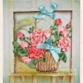 """Набор для вышивания лентами """"Розы в корзине"""""""