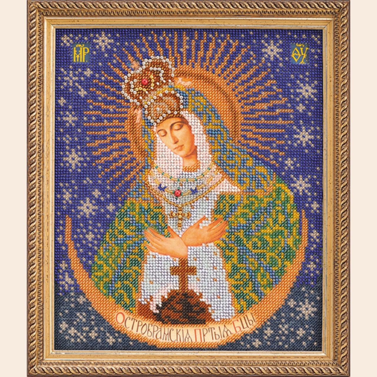 Фото Набор для вышивания бисером Икона Острабрамская Богородица (икона бисером) .