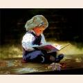 """Схема для вышивания бисером ASTREA ART """"Девочка с книгой"""""""