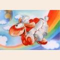 """Набор для вышивания нитками РИСУЕМ ИГЛОЙ Мини Люкс """"Облачко счастья"""" (10х15 см)"""