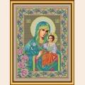 """Набор для вышивания бисером GALLA COLLECTION  Икона Божией Матери """"НЕУВЯДАЕМЫЙ ЦВЕТ"""""""