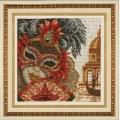"""Набор для вышивания нитками ЗОЛОТЫЕ РУЧКИ """"Венецианская маска. Она"""""""