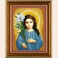 Богородица Трилетствующая.  Артикул.  Рисунки на ткани для вышивания бисером.  26x34.  БИС1215.