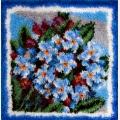"""Набор для вышивания. Ковровая техника PANNA  """"Голубые цветочки"""""""