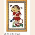 """Набор для вышивания арт.Овен - 041 СР """"Мартышка-Маришка"""""""