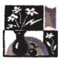 """Набор для вышивания. Ковровая техника PANNA  """"Черное и белое"""""""