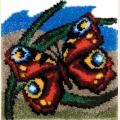 """Набор для вышивания. Ковровая техника PANNA  """"Танец бабочки"""""""