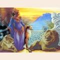 """Схема на канве для вышивания бисером ООО  """"Глурия """" 75023 Королева Египта."""