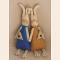 """Набор для изготовления текстильной игрушки 34 см """"Rabbit''s Story"""" """"Зайки""""  Ваниль"""