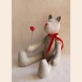 """Набор для изготовления текстильной игрушки 29см """"Bear`s Story"""", Мишка 100% лен, Ваниль"""