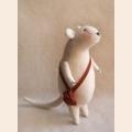 """Набор для изготовления текстильной игрушки 22см """"Mouse Story"""" , Мышка флисовая, Ваниль"""