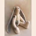 """Набор для изготовления текстильной игрушки 28см """"Rabbit Story"""", Заяц флисовый, Ваниль"""