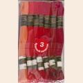 """Нитки мулине """"Цветик-семицветик"""" 10м арт. ПНК набор 7 мотков №3-красный лепесток"""