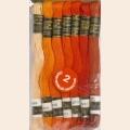 """Нитки мулине """"Цветик-семицветик"""" 10м арт. ПНК набор 7 мотков №2-оранжевый лепесток"""
