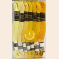 "Нитки мулине ""Цветик-семицветик"" 10м арт. ПНК набор 7 мотков №1-желтый лепесток"