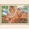 """Набор для вышивания нитками PANNA """"Логово тигра"""""""