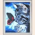 """Набор для вышивания бисером BUTTERFLY """"Котенок и бабочка"""""""